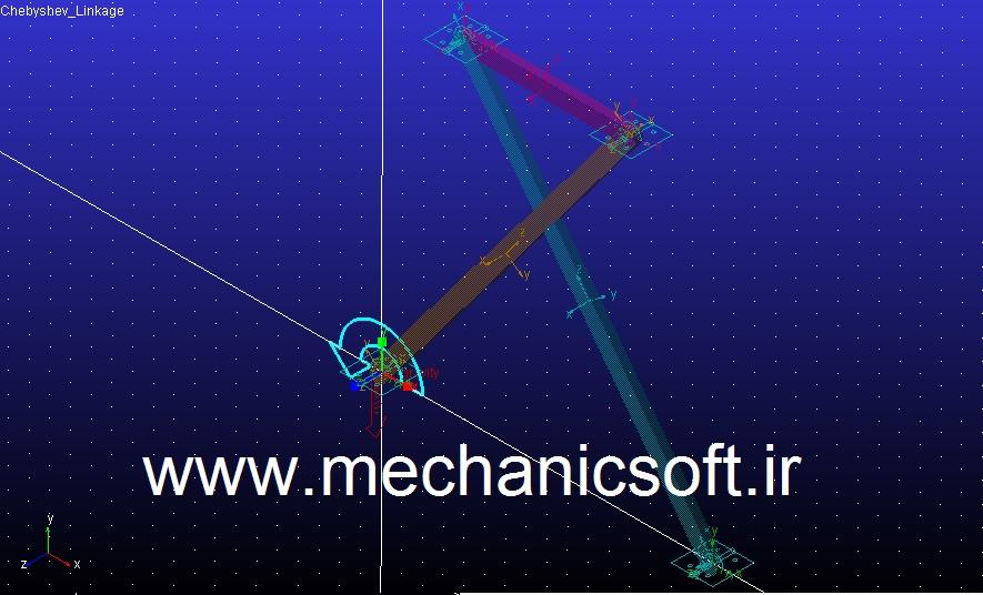 تحلیل مکانیزم chebyshev در نرم افزار Adams